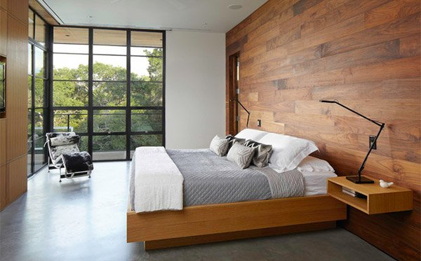 Hill Country Residence Wooden Panels