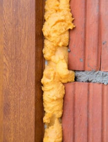 polyurethane foam cavity wall