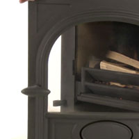 Leave the door slightly open when lighting your multi-fuel stove